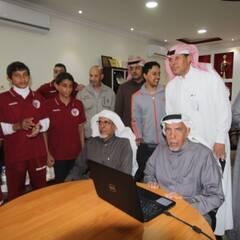 أمين هيئة أعضاء الشرف الشيخ عبدالكريم العبدالكريم يدشن موقع النادي