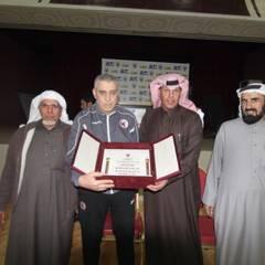 النادي يقيم حفل عشاء للمدرب محمد سعد واللاعب محمد جحفلي