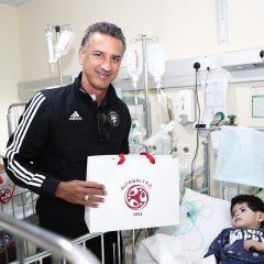 #الفيصلي يزور المرضى في مستشفى الملك خالد بمحافظة المجمعة