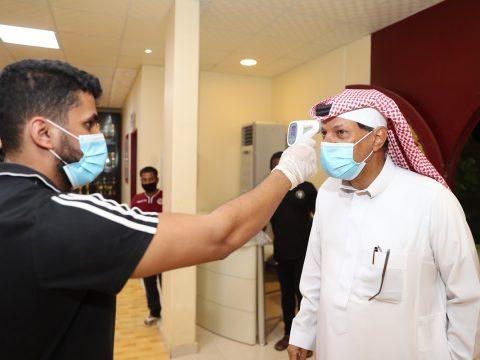 الفيصلي ينهي اجراءات المسحة الطبية للكشف عن فيروس كورونا