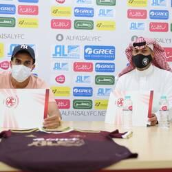 إدارة النادي توقع مع اللاعب حسن الجبيري قادماً من نادي جدة