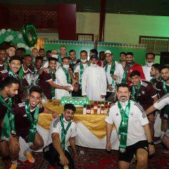 الفريق الاول لكرة القدم يعاود تدريباته ويحتفل باليوم الوطني السعودي