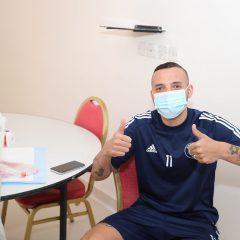 إدارة الفريق الاول لكرة القدم تجري المسحة الطبية الخاصة بفيروس كورونا المستجد