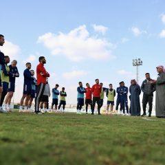 الفريق الاول لكرة القدم يواصل تحضيراته لمواجهة القادسية