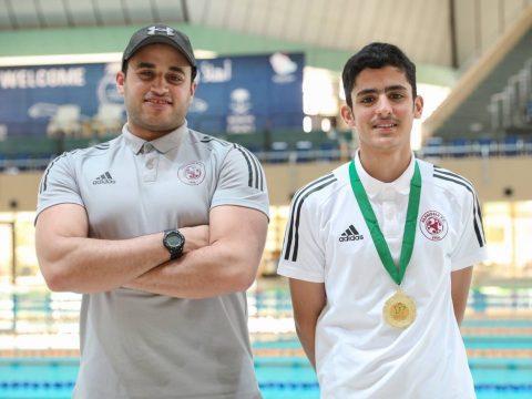 ضمن مشاركات فريق السباحة #الفيصلي يحصل على المركز الأول