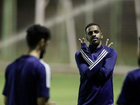 الفريق الاول لكرة القدم يجري مرانه الرئيس استعداداً لمواجهة الفتح
