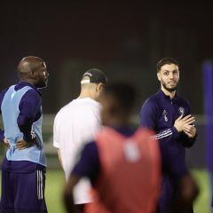 الفريق الاول لكرة القدم يجري مرانه الرئيس استعداداً لمواجهة النصر