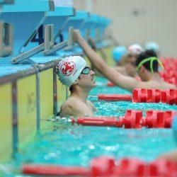 فريق السباحة يختتم مشاركته في بطولة المناطق والمقامة في الصالات الخضراء  #الفيصلي