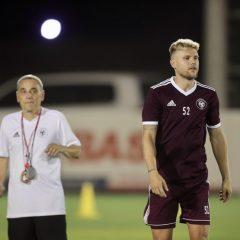 الفريق الاول لكرة القدم يواصل تدريباته الاعتيادية